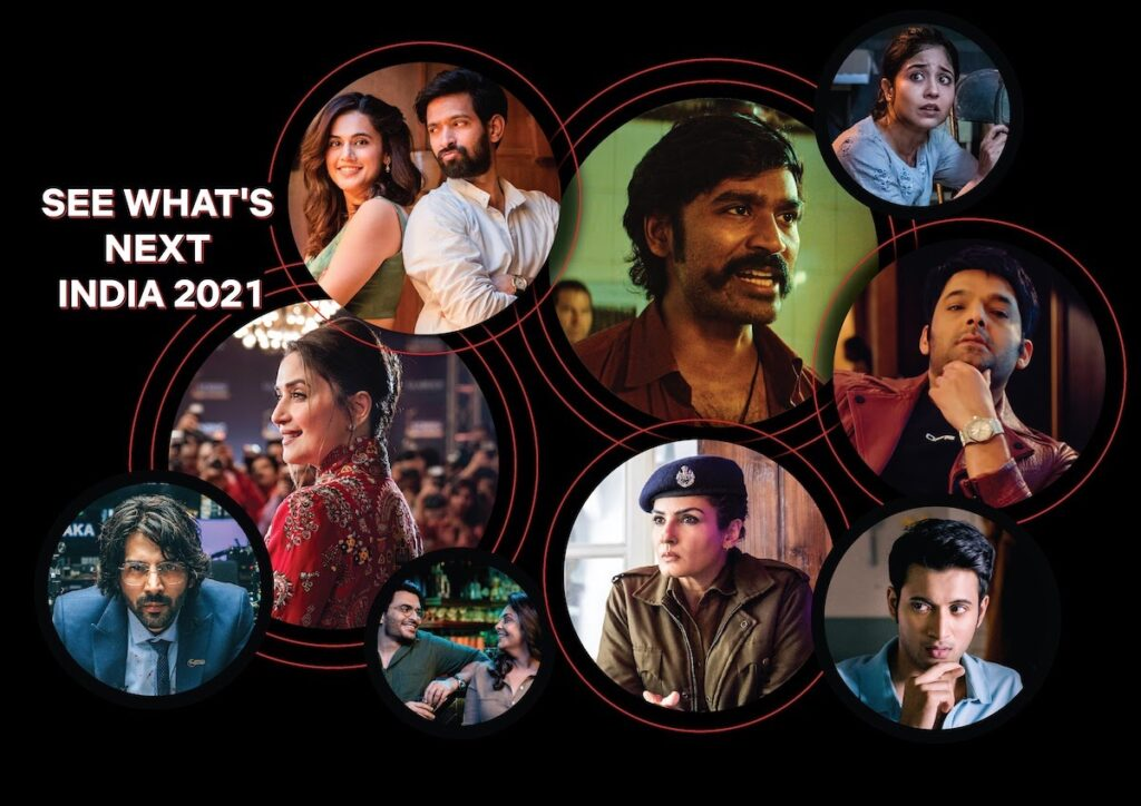 """Just two-and-a-half years after Netflix premiered its first Indian original series, """"Sacred Games"""", the streaming giant is rolling out a massive lineup of 41 Indian titles.Image credit: Netflix"""