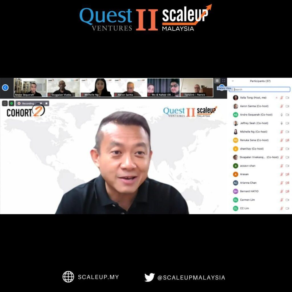 Quest Ventures Managing Partner Jeffrey Seah coaching the Cohort 2 participants. Image credit: Quest Ventures
