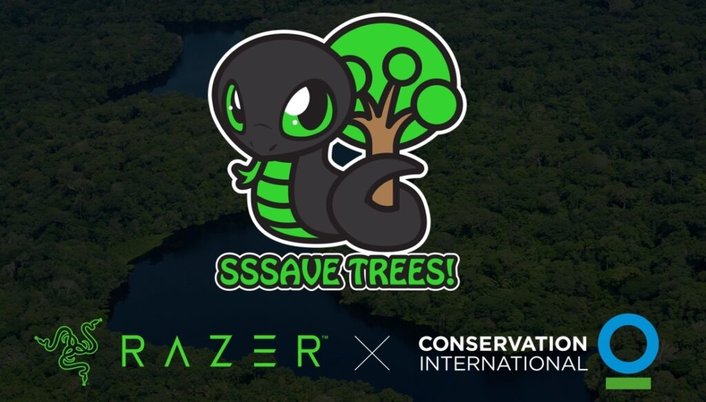 With the success of its Sneki Snek campaign, Razer has announced a new goal of protecting one million trees -- 10 times the original target. Image credit: Razer