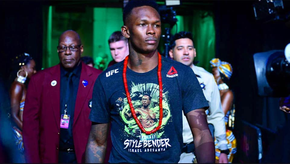 """That he chose the nickname """"The Last Stylebender"""" should tell you that Ultimate Fighting Championship Middleweight Champion Israel Adesanya is a fan of the anime-influenced American animated series """"Avatar: The Last Airbender"""". Image credit: Official Israel Adesanya Facebook page"""