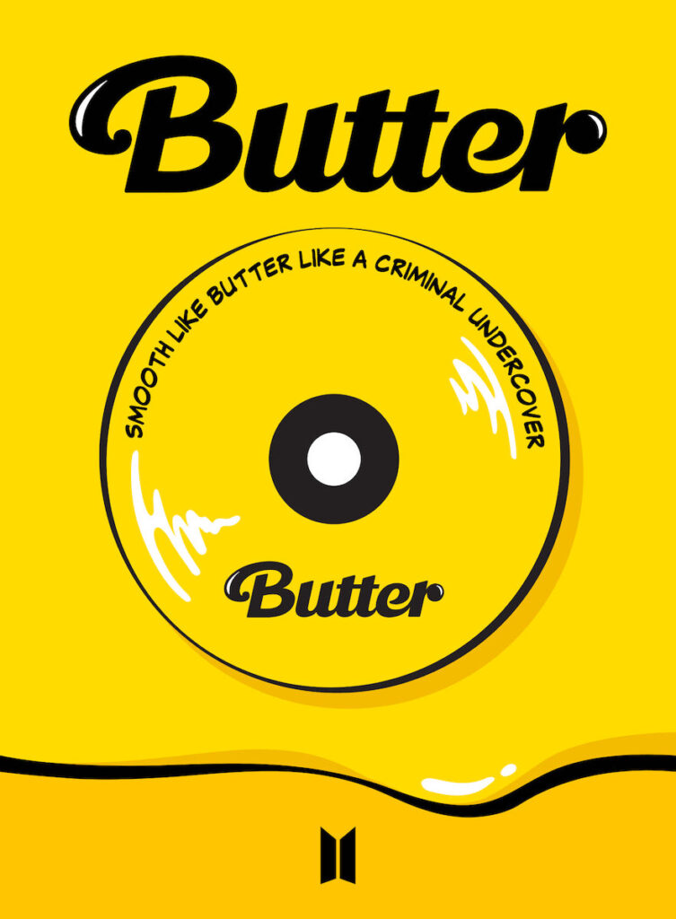 """""""Butter"""" by BTS spent nine non-consecutive weeks at No. 1 on the Billboard Hot 100. Image credit: Big Hit Music"""