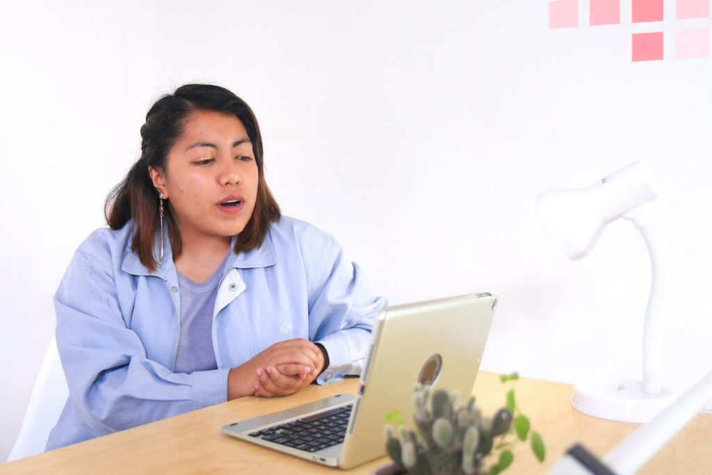 """With the increased adoption of video calls for office meetings, being """"camera-ready"""" has been identified as a key issue by Filipinos. Image credit: Beci Harmony on Unsplash"""