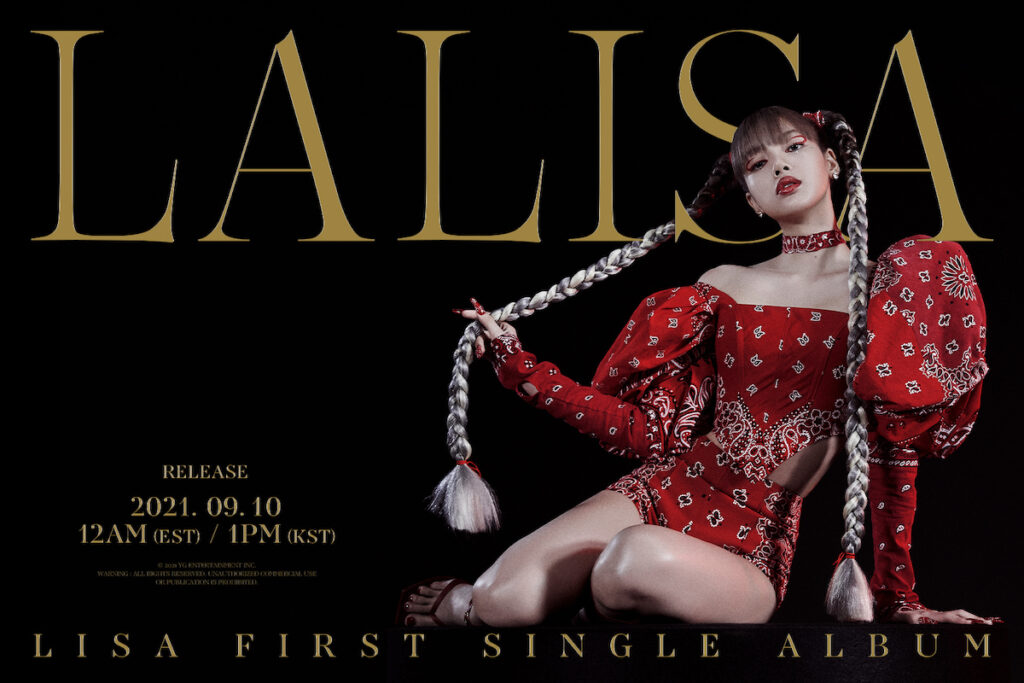 """""""LALISA"""", the first single album of BLACKPINK main dancer and lead rapper Lalisa Manoban, better known by the mononym Lisa, will be released on Sept. 10. Image credit: YG Entertainment"""