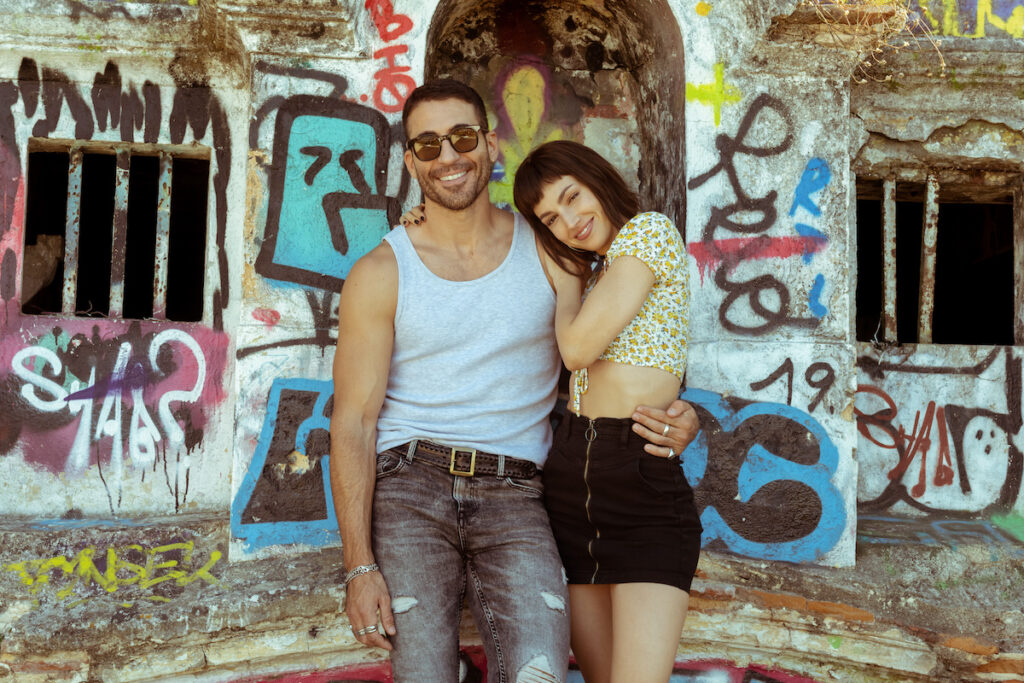 "Miguel Ángel Silvestre as René and Úrsula Corberó as Tokyo in ""Money Heist"" Season 5 Vol. 1. Image credit: Tamara Arranz/Netflix"