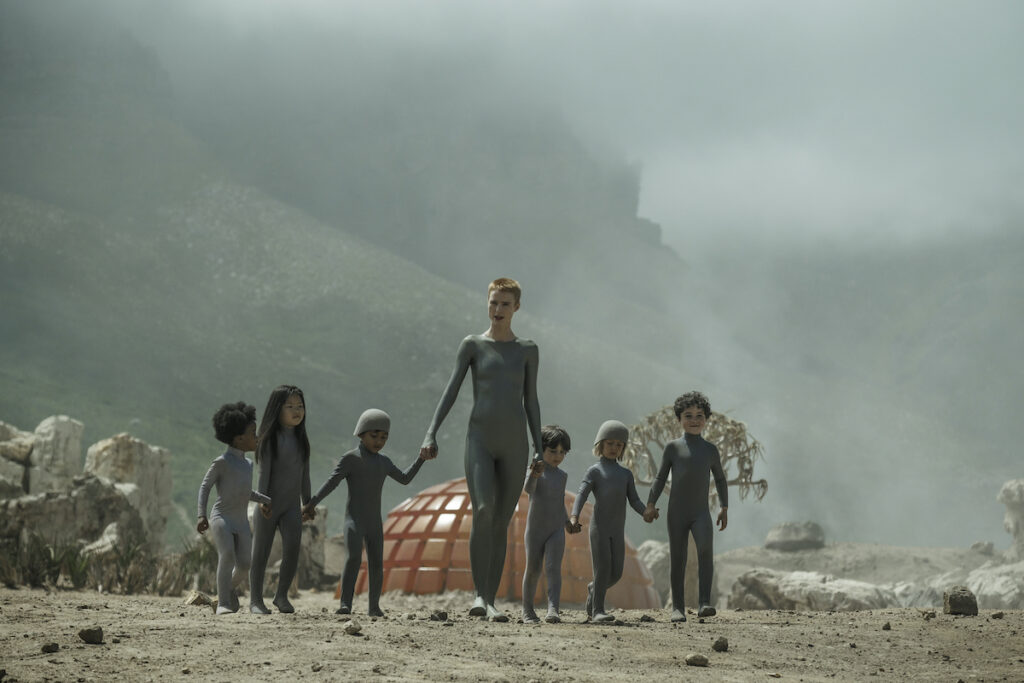 """Mother (Amanda Collin) is an android whose mission is to start a new human civilization in """"Raised by Wolves"""". Image credit: Coco Van Oppens/Warner Media"""
