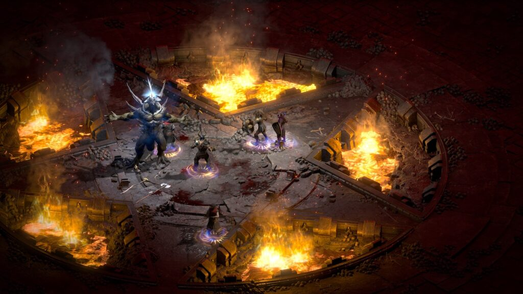 If you thought Diablo was horrifying before on your CRT monitor, wait until you see the Lord of Terror in all his HD glory in Diablo II: Resurrected. Image credit: Blizzard Entertainment