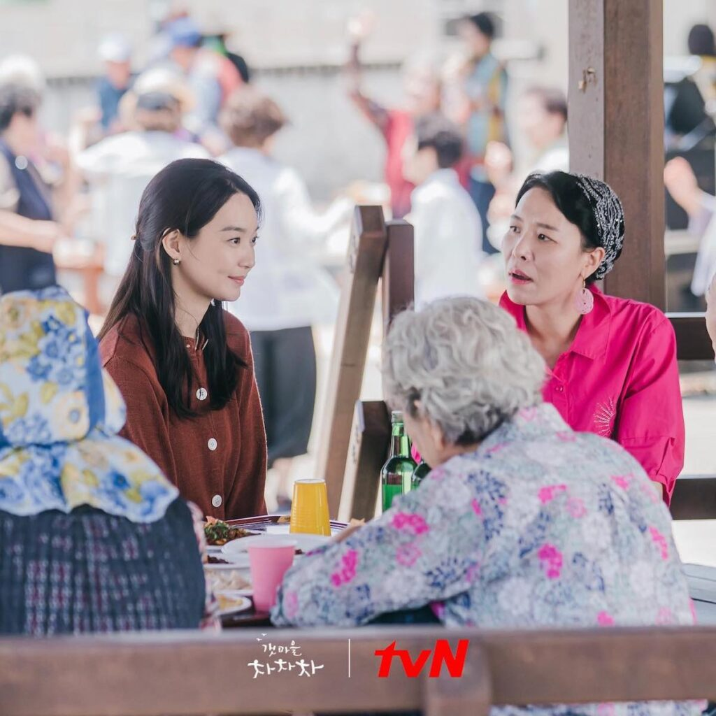 """While Yoon Hye-jin (Shin Min-a) has a good heart, Episode 2 of the rom-com """"Hometown Cha-Cha-Cha"""" shows us that she really has a tendency to put her foot in her mouth. Image credit: tvN"""