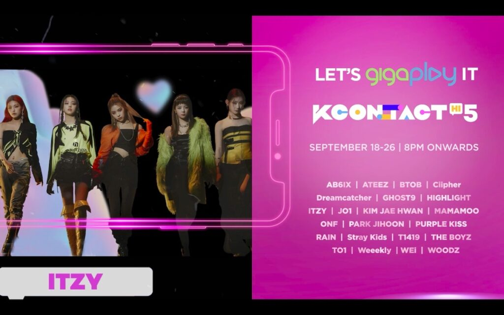 KCON:TACT HI 5 will take place from Sept. 18-26, featuring musical performances and live meet and greet sessions. Image credit: Smart Communications