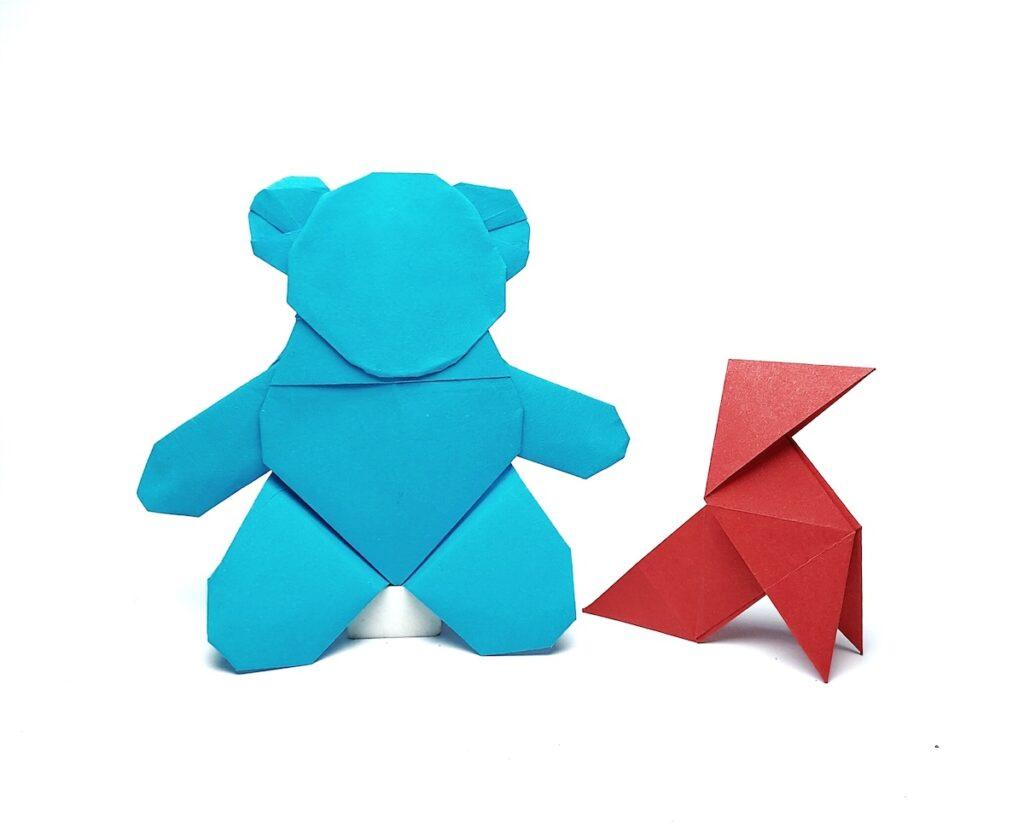 Alicia's teddy bear and red origami bird. Image credit: Netflix / Sarjit Singh