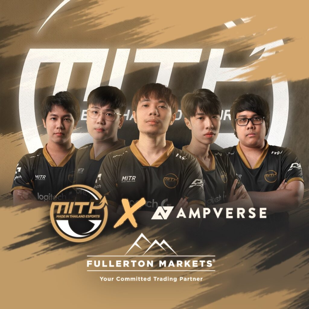 The worlds of gaming and finance will collide as MiTH (Made in Thailand), one of Southeast Asia's most popular esports teams, joins the portfolio of Singapore-based esports company Ampverse. Image credit: Ampverse