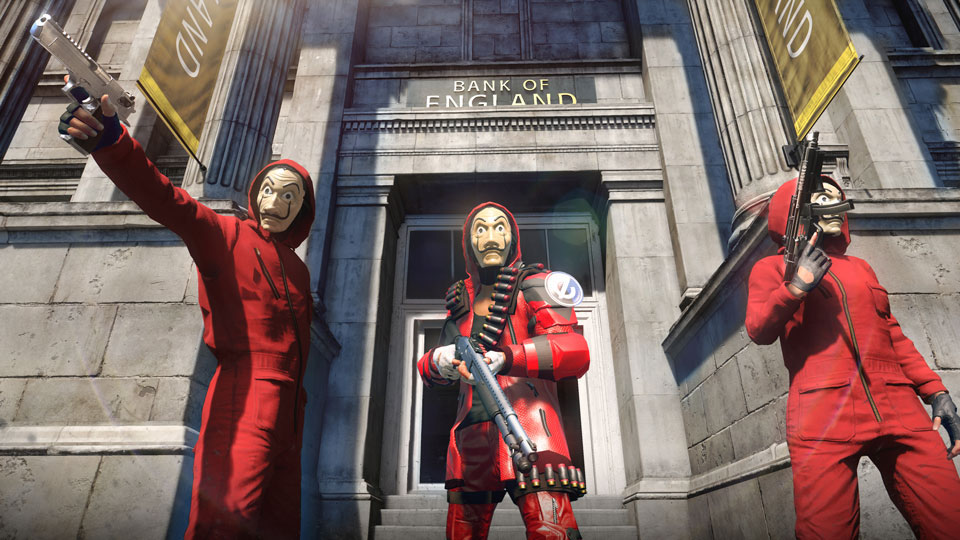 """While waiting for Season 5 of """"La casa de papel"""" to stream on Sept. 3, Watch Dogs: Legion Online players can already get their """"Money Heist"""" fix in a new, free co-op mission base Image credit: Ubisoft"""
